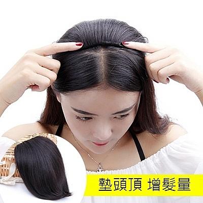 假髮片(真髮絲)-頭頂補髮隱形增髮量女假髮4色73uf31[時尚巴黎]