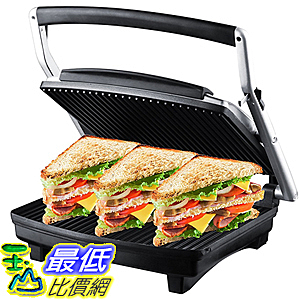 [美國直購] ZZ SM303 Gourmet Grill Panini and Sandwich Press  1080W, Silver 三明治製造機