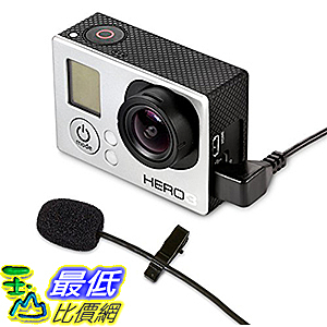 [美國直購] MXL Mics MM-165GP 攝影機專用麥克風 Lavalier Microphone for GoPro Cameras
