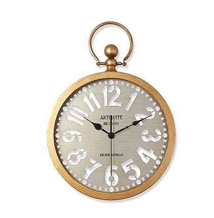 浪漫夜空(阿拉伯錶盤-金框)北歐式複古靜音客廳臥室掛錶美式創意個性大掛鐘錶
