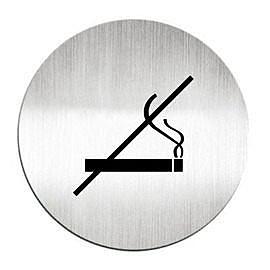 迪多Deflect-o 鋁質圓形貼牌-禁止吸煙 610810C