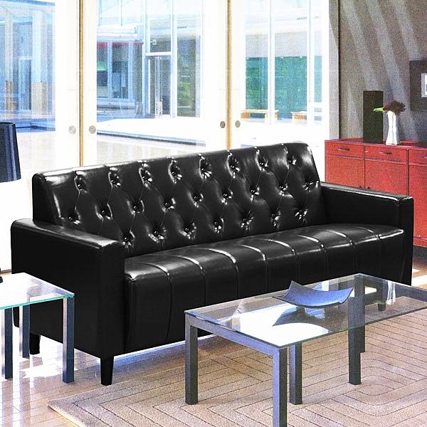 沙發 皮沙發 美式拿鐵-百年經典復古三人沙發175cm-三人座皮沙發-$7000-酒紅/黑色-兩色