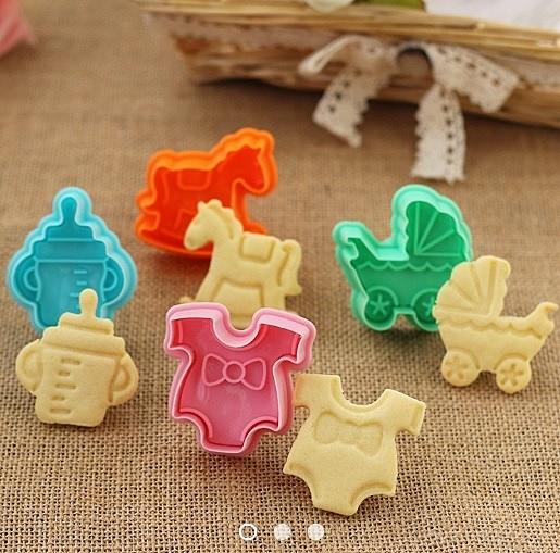 3D餅乾模具 立體彈簧按壓餅乾模具【M005】 餅乾切模 翻糖壓模 卡通餅乾壓模 塑膠模