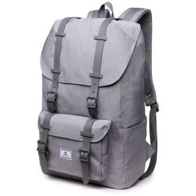 QTMIAO-Bags バックパック男性のUSB充電リュックオックスフォード生地のトラベルバッグ (Color : Grey)