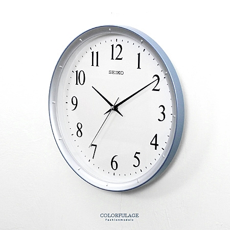 SEIKO簡約亮銀藍色時鐘【NG1727】原廠公司貨