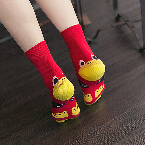 BO雜貨【SV3951】趣味情侶襪 情侶襪 卡通圖案襪 花襪 韓襪子 長襪 穿搭