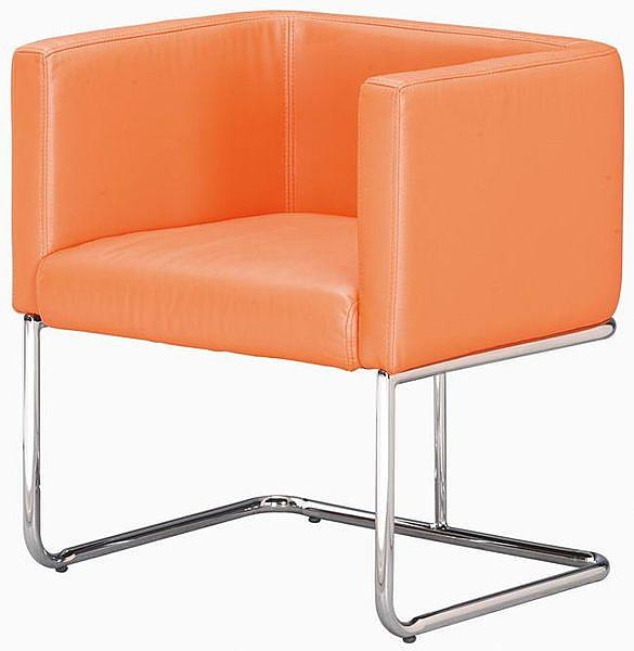 HP435-01 造型椅QG-030-1(電鍍/橙皮/單張)