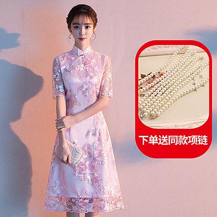 改良式旗袍 中國風洋裝 年輕款 連身裙 新品夏季新款 時尚少女短款