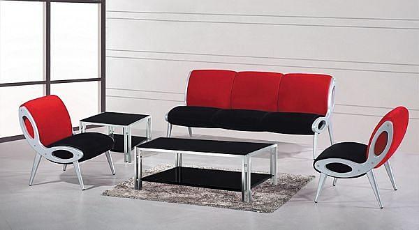 HY-Y231-1  SJ666沙發組(1+1+3)(雙色絨布/整組)不含大小茶桌 椅腳材質:鋁合金