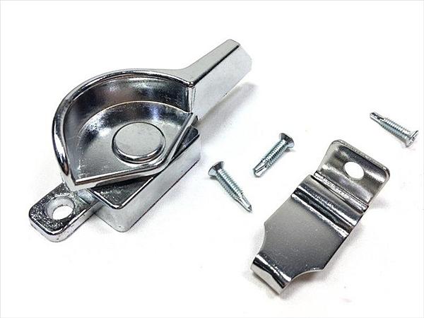 【厚短鋅窗鉤(右)】318550門鉤門窗配件 鋁門配件【八八八】e網購