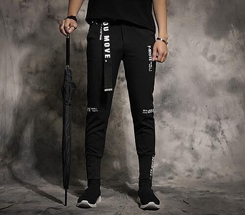 找到自己 MD 韓國 潮 男 嘻哈 街頭時尚 字母貼布 束腳 另類 夜店DJ發型師 小腳褲 九分褲 休閒長褲