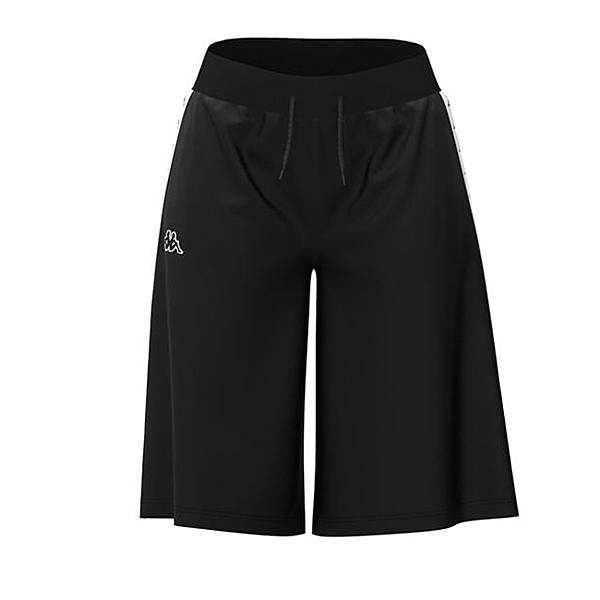 KAPPA義大利時尚女吸濕排汗運動半短褲 黑