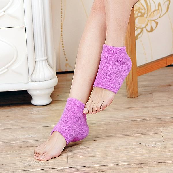EuniceMed 優妮思薰衣草精油保濕腳跟襪套 紫色 (CPF-8602)