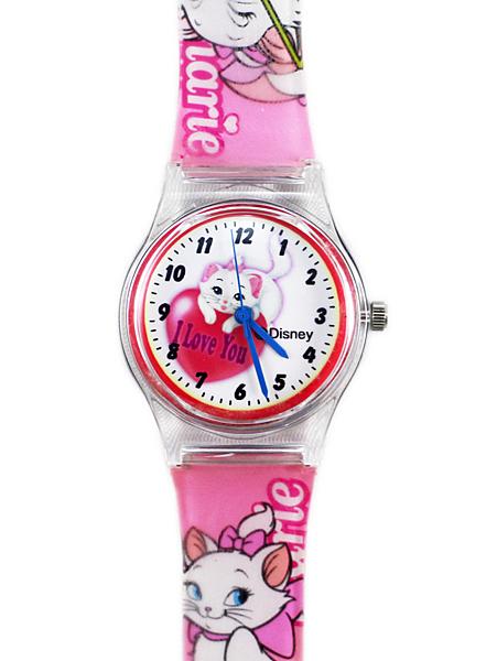 【卡漫城】 瑪莉貓 手錶 愛心 ㊣版 Marie 瑪麗貓 兒童錶 塑膠錶 女錶 卡通錶 2 6 0元