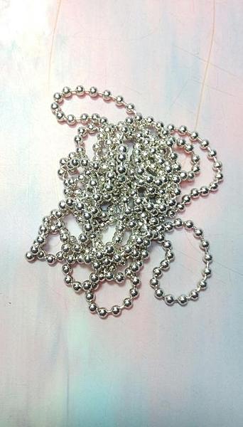 【銀色珠鍊 15-502】419539銀色珠鍊 DIY五金【八八八】e網購