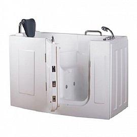 【海夫健康生活館】開門式浴缸 107-R 氣泡按摩款 (140*76*98cm)