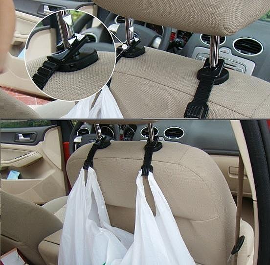 對裝小掛鉤(一組兩個)【NF020】汽車椅背掛鉤 雙掛鉤 多功能車內塑膠掛鉤