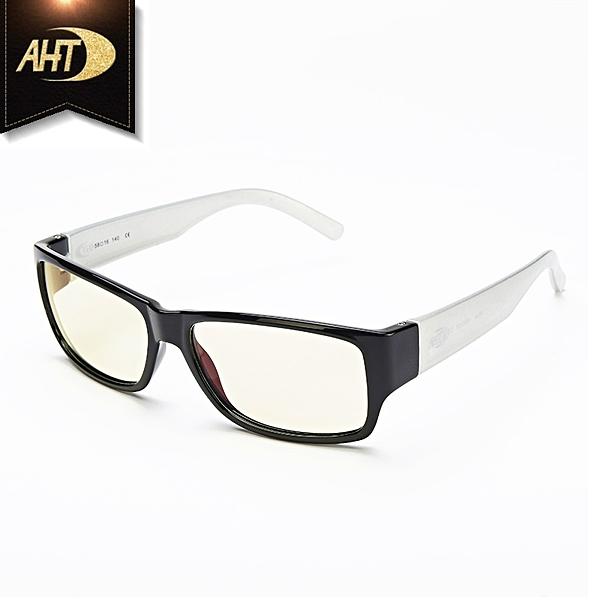 《FUTIS》AHT 抗藍光眼鏡 防輻射 平光眼鏡 電腦眼鏡 經典百搭 AB0001_C4 黑/銀白
