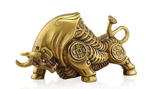 黃銅旺財牛