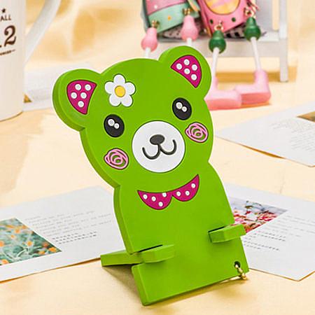 綠色小熊手機座
