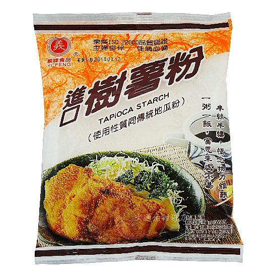義峰 進口樹薯粉(地瓜粉) 200公克 原:粒仔粉