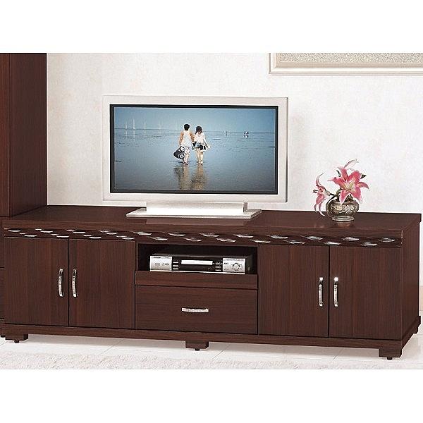 電視櫃 PK-428-4 蜂巢新胡桃7尺電視櫃(開門)【大眾家居舘】