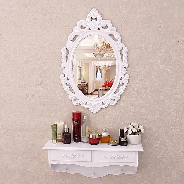 推薦 壁挂梳妝台鏡 迷你臥室網紅ins化妝台 北歐式小戶型飄窗簡約化妝台 梳妝桌