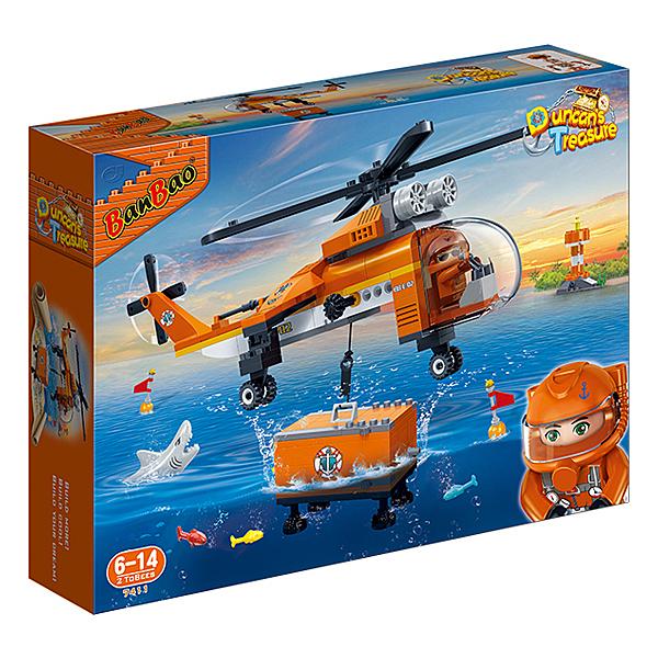 【BanBao 積木】海洋系列-深海直升機 7411