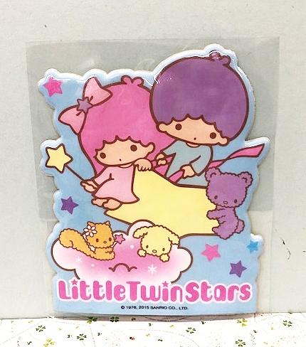 【震撼精品百貨】Little Twin Stars KiKi&LaLa 雙子星小天使~海綿貼紙-粉色#96214