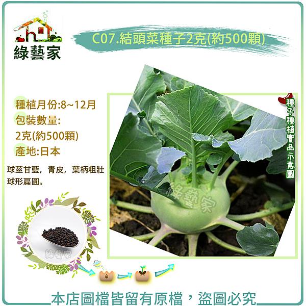 【綠藝家】C07.結頭菜種子2克(約500顆)