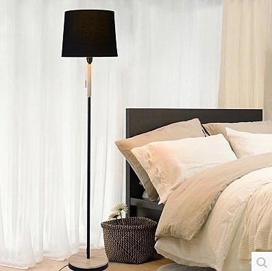 北歐新款書房客廳臥室床頭簡約現代實木布藝遙控護眼led落地臺燈