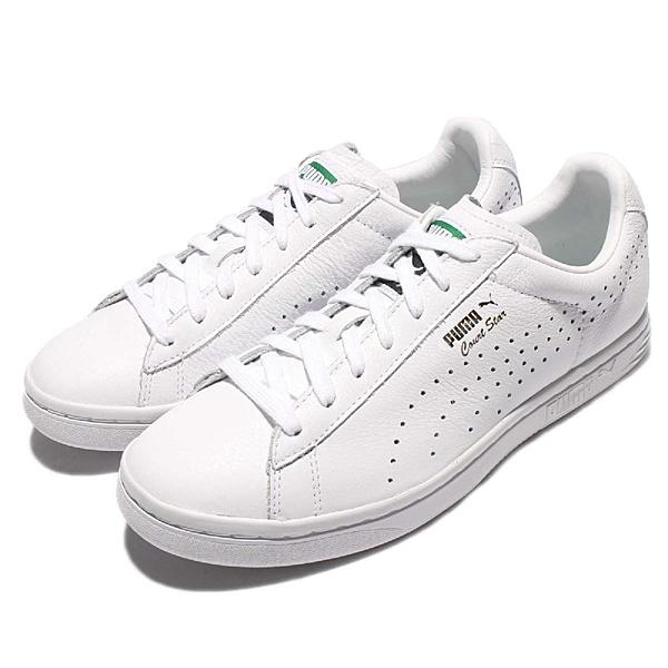 Puma 復古網球鞋 Court Star NM 白 全白 金標 洞洞 休閒鞋 男鞋 女鞋【ACS】 35788301