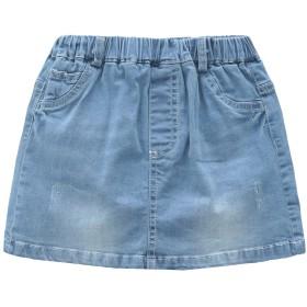 Grandwish(グランドウィシ)ガールズスカート 子供スカート ストレッチデニムスカート 90