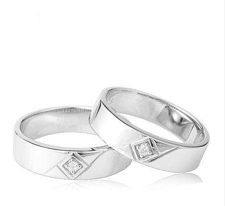 銀鍍白金 七夕禮品 禮物 創意新奇 情侶對戒一對價