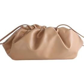 Winwinfly 女性クラウドバッグPUクラッチバッグビンテージメッセンジャーバッグ,カーキ