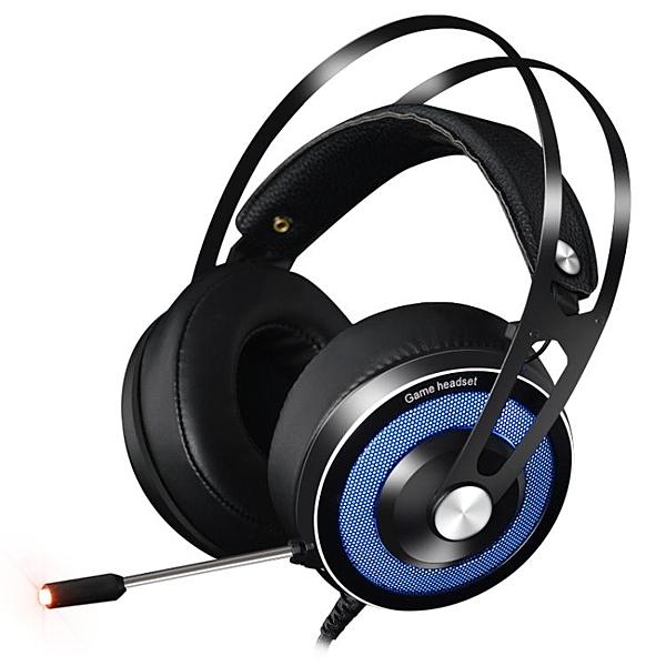 頭戴式耳機吃雞電腦游戲重低音電競降噪臺式筆記本耳麥 萬客居