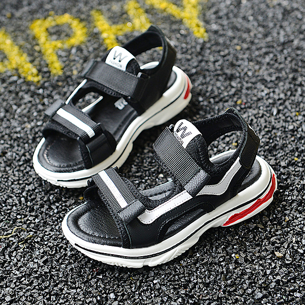 男童涼鞋真皮新款中大童韓版夏季沙灘兒童防滑學生軟底男孩鞋