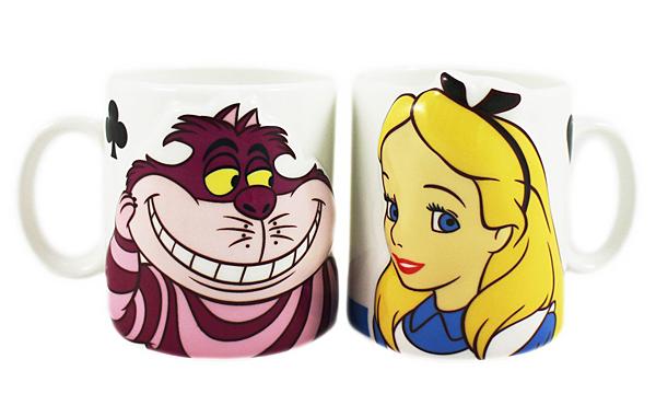 【卡漫城】 愛麗絲夢遊仙境 對杯 ㊣版 日版 馬克杯 3D 造型 立體 陶瓷杯 妙妙貓 笑笑貓 Alice Wonder