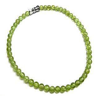 天然橄欖綠腳鏈