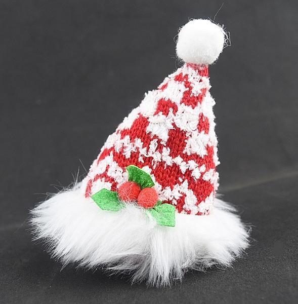 節慶王【X077050】聖誕帽髮夾,聖誕節/髮夾/帽夾/飾品/聖誕樹/髮圈