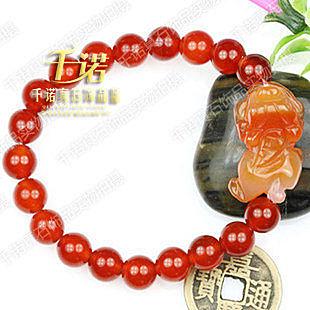 特價 絕美開光紅瑪瑙貔貅手鏈 古典氣息 水嫩質感