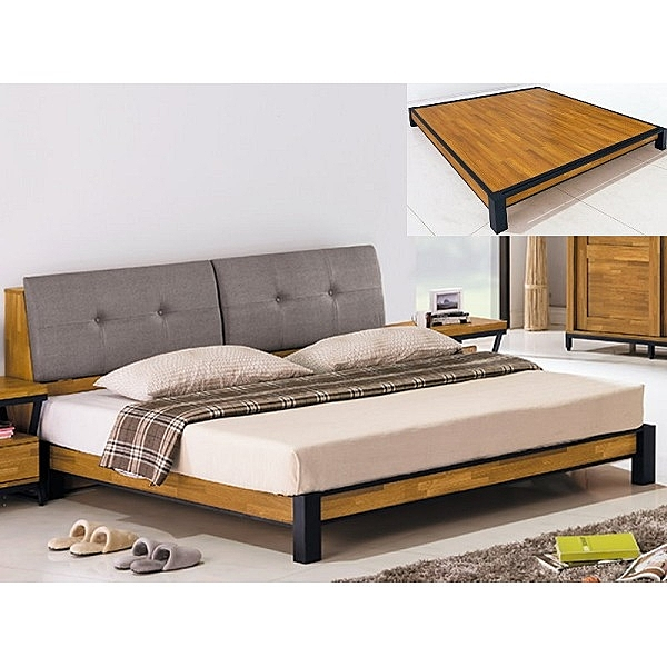 床架 床台 PK-133-1A 格維娜5尺床台 (不含床墊) 【大眾家居舘】