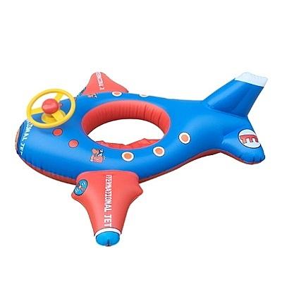 游泳圈 兒童-卡通飛機方向盤充氣水上活動坐騎浮板73ez25【時尚巴黎】
