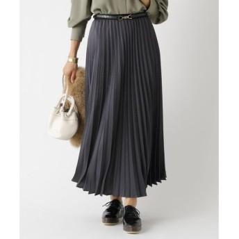aquagirl / アクアガール マロンサテンプリーツスカート