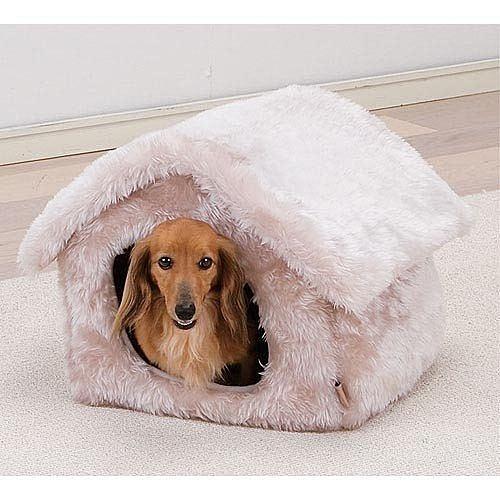 【培菓平價寵物網】  暖暖過冬★IRIS 毛絨布雪屋寵物窩PNH-350 (白/灰色)