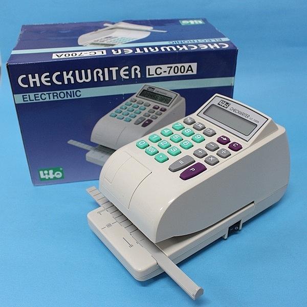 徠福 LC-700A 電動電子支票機(10位中文字.自動夾紙)/一台入{定5500}~開支票專用
