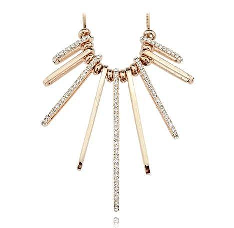 蛇骨鏈毛衣鏈飾品項鏈 多層首飾長款水晶假領子流行