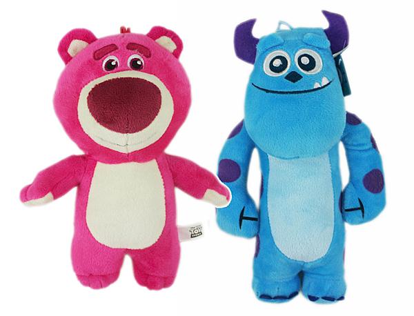 【卡漫城】 23cm 絨毛娃娃 2款選1 ㊣版 怪獸大學 布偶 玩偶 Sulley 毛怪 熊抱哥 Lotso 玩具總動員