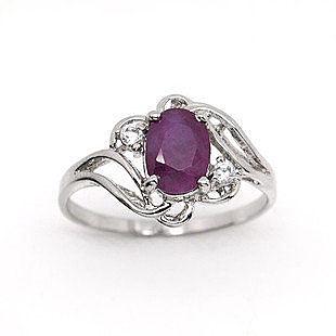 天然紅寶石戒指