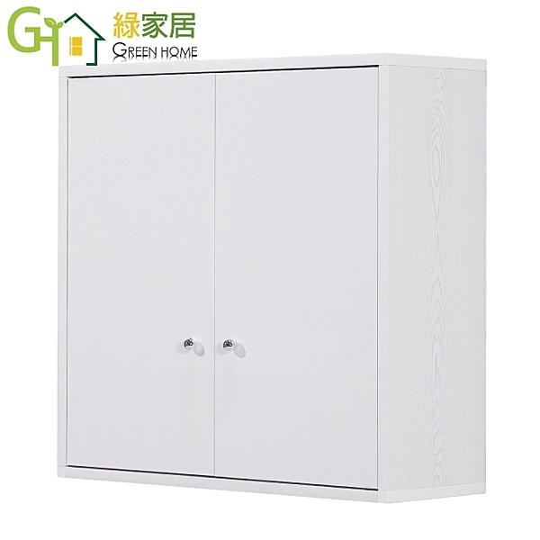【綠家居】戴倫 環保2.2尺塑鋼壁掛二門置物櫃/收納櫃